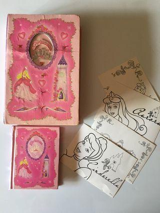Caja de princesas con diario y postales de Disney