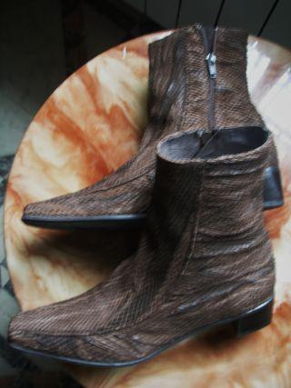 41 PIEL botas mujer AUREA BLANCH SERPIENTE NUEVAS