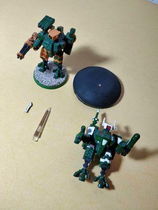 Armaduras XV8 Crisis T'AU. Warhammer 40K
