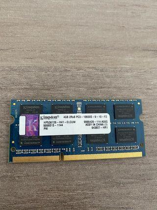 Memoria RAM 4GB SO-DIMM DDR3 1333mhZ