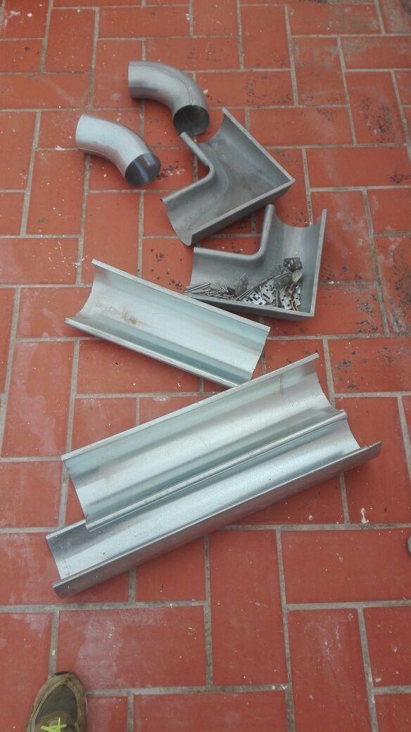 piezas para canaletas de galvanizado.