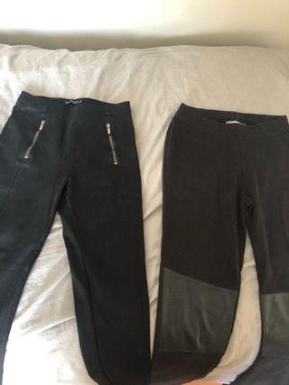 Dos leggins negros