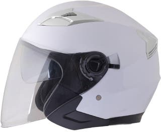 Casco moto jet shiro 451 GAFA SOLAR blanco brillo