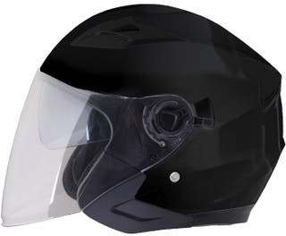 Casco moto jet shiro 451 GAFA SOLAR negro mate
