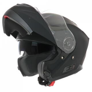 Casco moto modular shiro 507 negro mate
