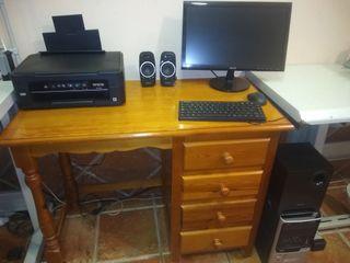 ordenador completo con altavoces y con impresora