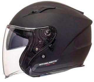Casco moto jet MT avenue GAFA SOLAR negro mate