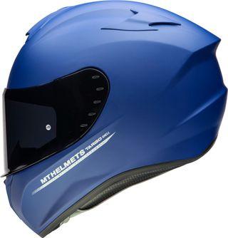 Casco moto integral MT targo azul mate
