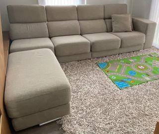 Sofa con motor y pouf