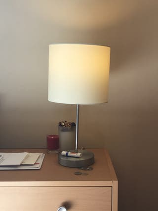Table lamp with light bulb. Pimlico.