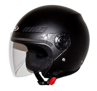 Casco moto jet shiro SH62 negro mate o brillo