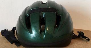 Casco para bicicleta verde oscuro talla M