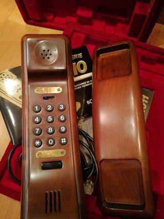 teléfono madera SOLAC vintage sin usar