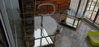 mesas de centro cristal