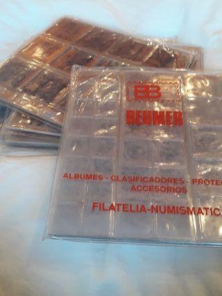 Hojas álbum monedas Beumer