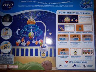 Movil proyector noche estrellitas NUEVO Vtech baby