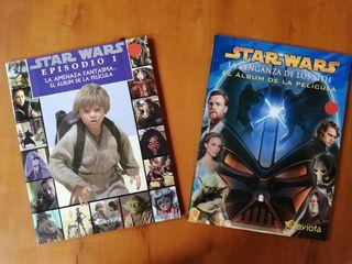 Lote 2 álbumes de películas Star Wars everest