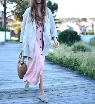 Vestido Zara botones talla S