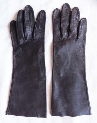 guantes piel negro. talla 6,5