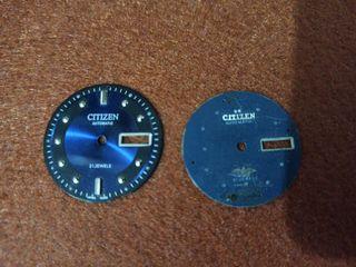 Dos diales antiguos reloj citizen.
