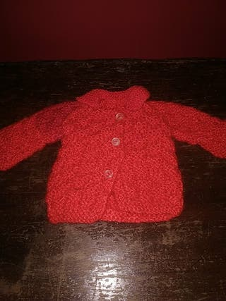 abrigo de muñeca años 70