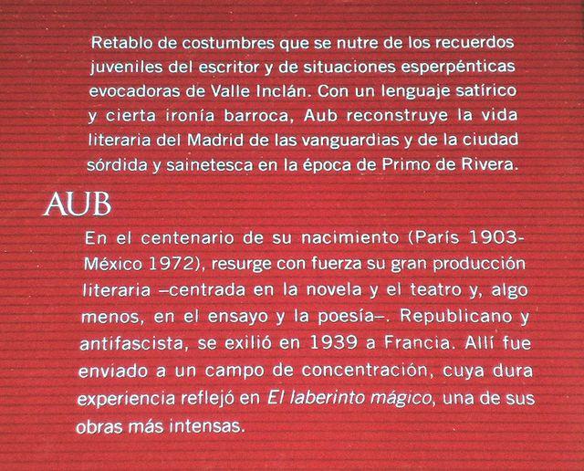 Libro LA CALLE DE VALVERDE, de Max Aub