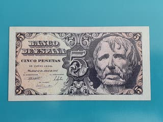 Billete de 5 pesetas de 1947, sin serie.