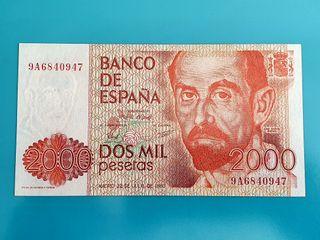 Billete 2000 pesetas 1980. Serie especial 9A.