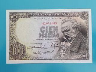 Billete 100 pesetas de 1946, sin serie.