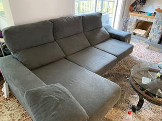 Sofá cheis longe color gris 3 plazas