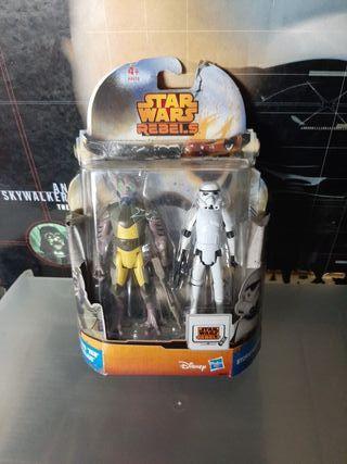 Star Wars Garazeb Zeb Orrelios y Stromtrooper