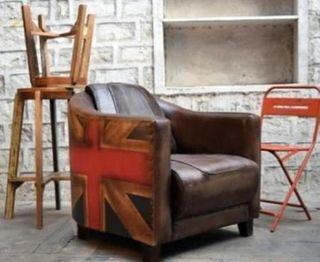 Sillon o sofa Tipo Chesterfield de cuero autentico