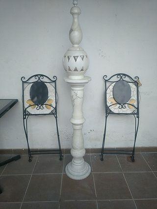 lampara pedestal columna de mármol