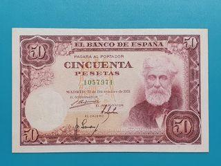Billete 50 pesetas 1951. Sin serie.