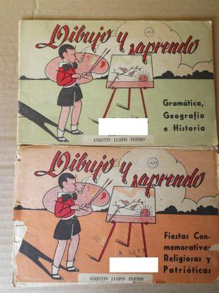 """Libro antiguo """"Dibujo y aprendo"""".Cuadernos 2 y 3"""