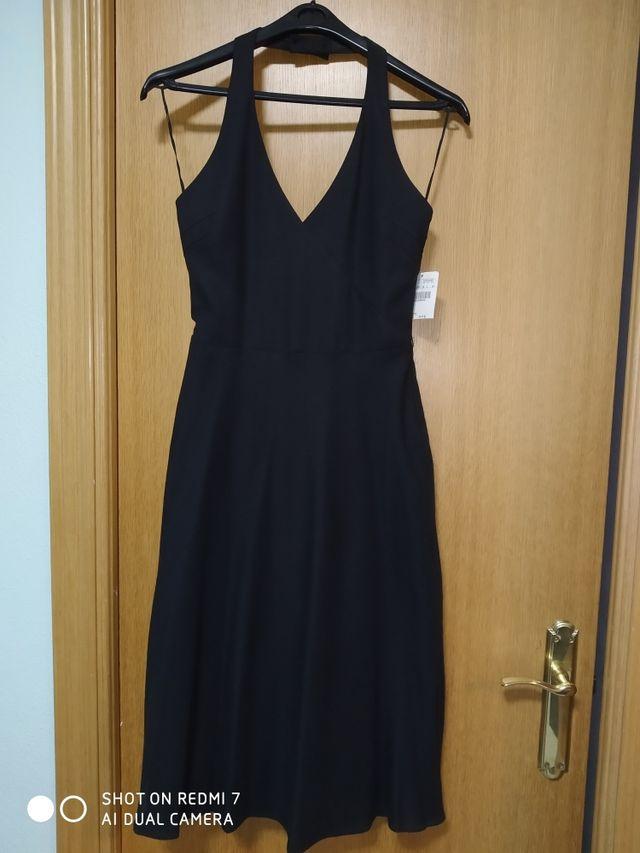 Vestido Zara halter espalda descubierta. Talla 38.