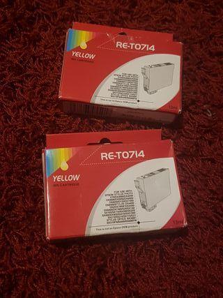 cartuchos de tinta hp Epson modelo Re-T0714