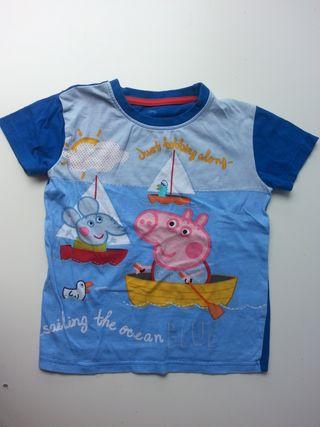 (d047) (3x2) Camiseta PEPPA PIG 3-4 años