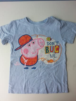 (d046) (3x2) Camiseta Peppa Pig 3 años