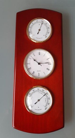 Set reloj, termómetro e higrómetro de pared