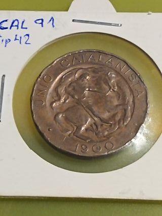 Moneda de 10 centims del 1900 Unió Catalanista