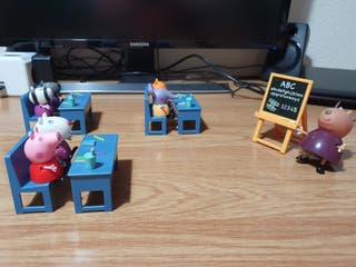 Clase Peppa Pig muñecos