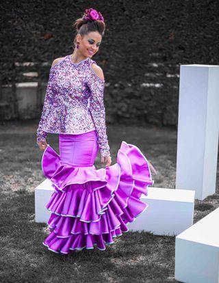 Vestido de flamenca y/o fiesta dos piezas