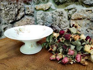 Peana frutero frances en porcelana de Limoges
