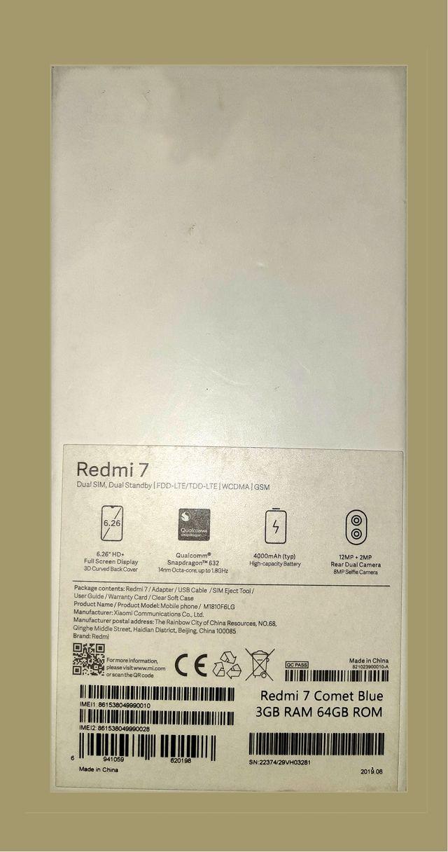 Xiaomi RedMi Note 7 Comet Blue