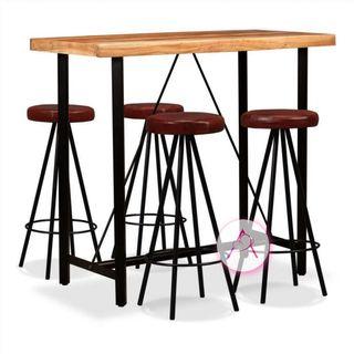 Set muebles de bar 5 pzas madera maciza sheesham c