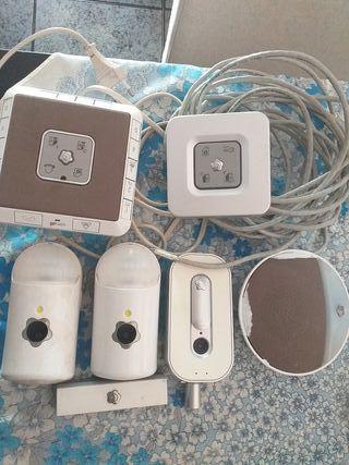 cameras de seguridad y sensores de movimiento