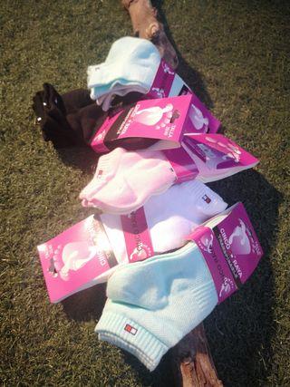 calcetín mujer tobillero algodón, 3 pares 5 euros