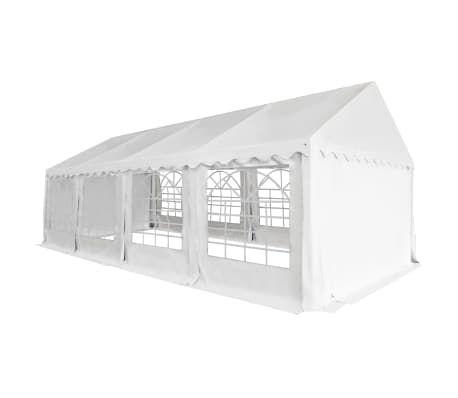 Carpa de jardín de PVC 4x8 m blanco
