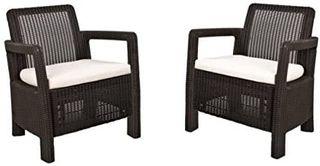 Keter Tarifa - Conjunto de sillones de jardín exte